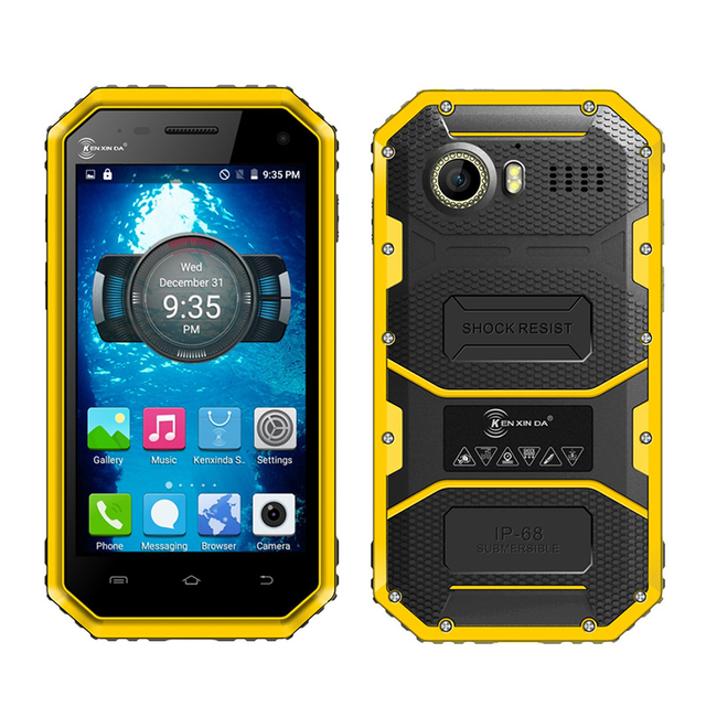 "Kenxinda W6 IP68 waterproof shockproof dustproof 4.5"" smartphone 4G LTE Android 5.1 Quad core 1G + 8G rugged mobile phone P110"