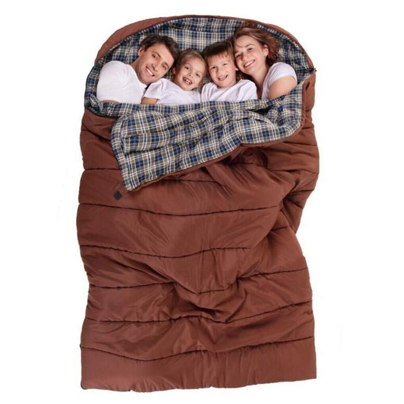 Hangout Family Sleeping Bag Double 2 3 4 Person Outdoor
