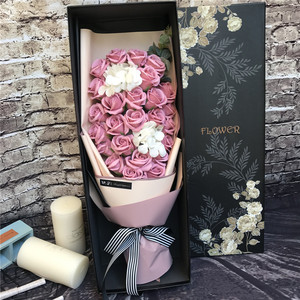 Klonca Luxury Soap Flower 27pcs/lot Artificial Fake Soap Flowers Valentines Day Gift for Women Wedding Decoration