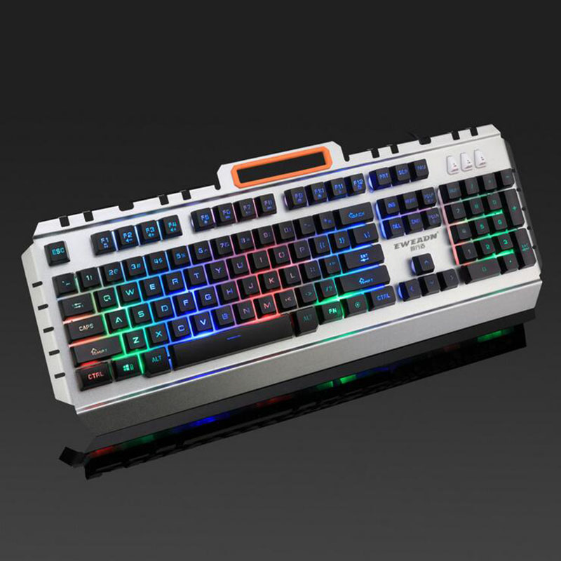 8HAOWENJU K880 Mechanical Keyboard Color : Black Internet Cafe Esports Dedicated Game Wired Keyboard Backlight