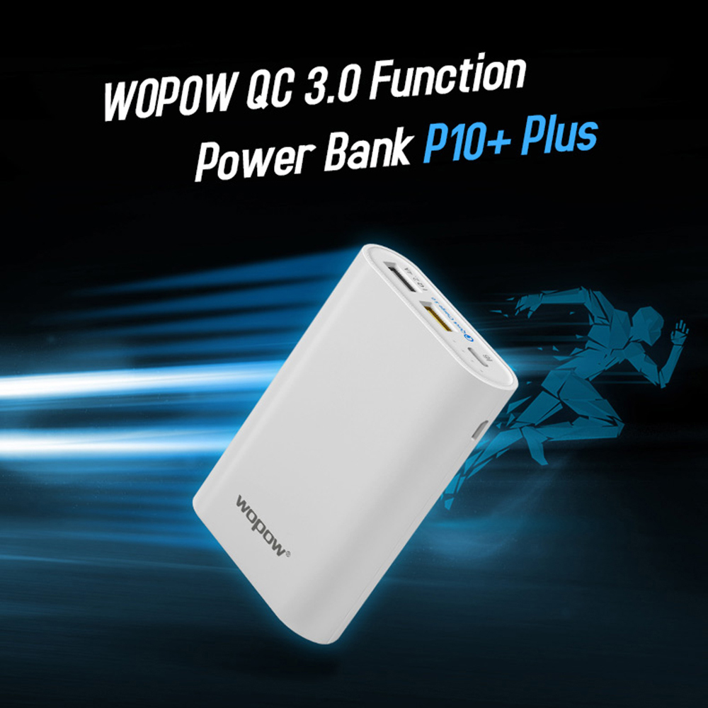 real capacity 3.0 P10plusQ 10050 mAh Double USB Mobile Portable Chargeur Externe Batterie for iPhone Xiaomi Samsung LG
