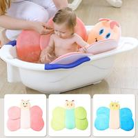 Baby Shower Bath Seat SupporPortable Cushion Babies Infant Baby Bath Pad Non Slip Bathtub Mat NewBorn Safety Security Bed