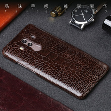 Luxury Genuine leather Phone Case For Huawei Mate 9 10 Pro Really Ostrich Foot skin back cover P10 20 Plus Nova 2S cases