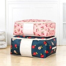 Fashion Printed Oxford thickening quilt finishing bag clothes arrangement storage with window free shipping