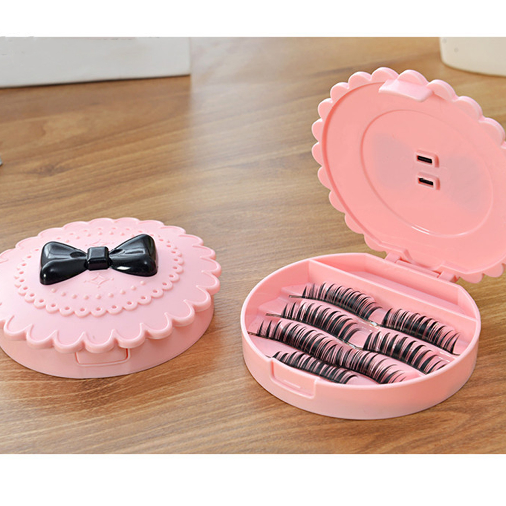 Image 3 - Cute Three Tier Eyelash Travel Storage Container Carry Case Box Acrylic Travel Lash Box Organizer Pink Without Mirror-in False Eyelashes from Beauty & Health