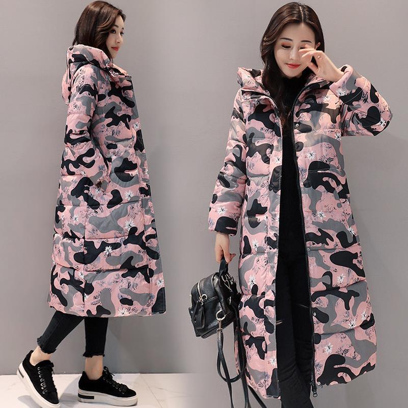 Chaud Noir Long Vestes Veste Classique Pink Red Manteaux Nouveau Outwear Épais Fc Dentelle camouflage Hiver Femmes Grande Rétro Souple Coton Femelle camouflage Taille ivoire À Parka rouge camouflage Brown White camouflage Neige vert qzdxa1Tn1