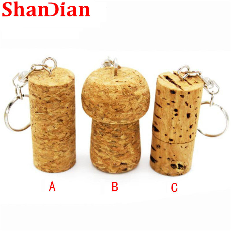 Hearty Shandian Soft Wooden Cork Usb Flash Drive Wood Bottle Plug Pendrive 8gb 16gb 32gb Memory Stick Logo Customized Keychain Gifts Commodities Are Available Without Restriction Computer & Office