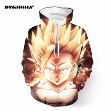 New 2017 Dragon Ball Z Super Saiyan Hoodies Sweaters