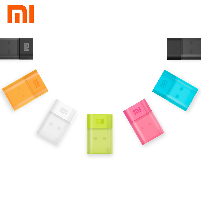 все цены на Original Xiaomi Colorful Mini Wifi USB Wireless Router 150Mbps 2.4GHz Portable Wifi adapter WI-FI Adapter With APP For tablet