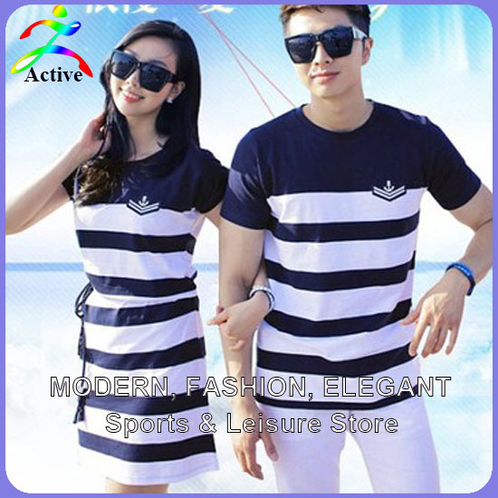 Fashion couple clothes lovers t shirts men women summer for Couple polo shirts online