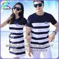 Pareja Ropa de Los Amantes de la manera Camisetas Hombres Mujeres Summer Beach Wear Casual Lindo de Corea del Día de San Valentín A Juego Camisas de los Pares 2210
