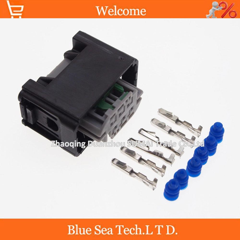10 sets AMP 6 Pin/way auto restrictor sensor plug connector,auto ...
