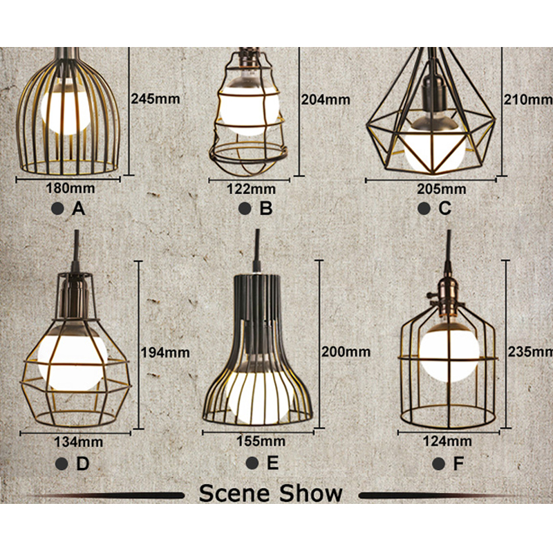 Fashion Fancy Hanging Lamp Art Decoration E27 E26 Pendant Lights Iron Retro Coffee Restaurant Pub Music Bar Drop Lights Dynasty in Pendant Lights from Lights Lighting