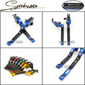 Logo MT07 For Yamaha Mt 07 MT-07 2014-2016 Motorcycle Accessories Adjustable Folding Extendable Brake Clutch Levers Blue