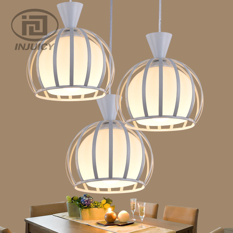 Loft Modern Simple Wrought Iron Glass Pendant Lamp Restaurant Cafe Bar Dining Room Cafe Bar Decorative White Hanging Lamp loft hanging lamps industrial living room kitchen restaurant cafe dining room aisle study bar iron chandelier pendant lamp light