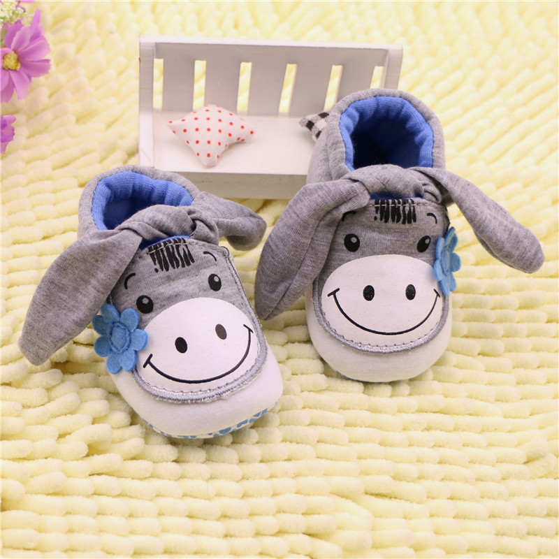 Gray Donkey Crib Shoes Sofe Sole Slip-on Baby Boy Shoes Newborn Baby Slippers Prewalker sapatos infantil chaussure fille 0-18M