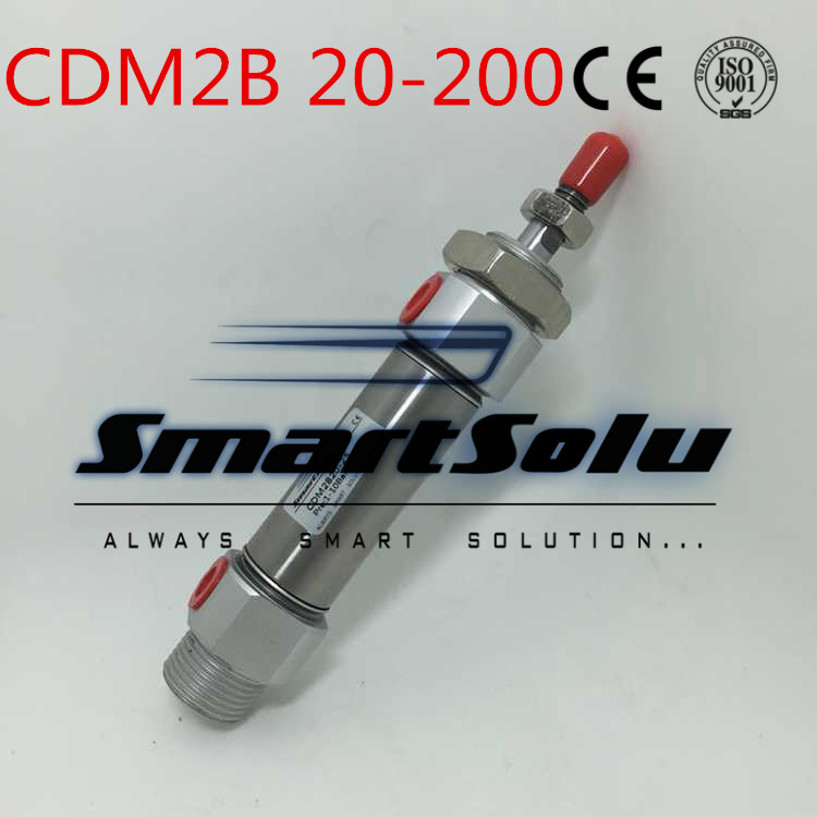 Free Shipping  Type Cylinder CDM2B20-200 Mini Pneumatic Double Acting 20-200mm Accept custom high quality double acting pneumatic gripper mhy2 25d smc type 180 degree angular style air cylinder aluminium clamps