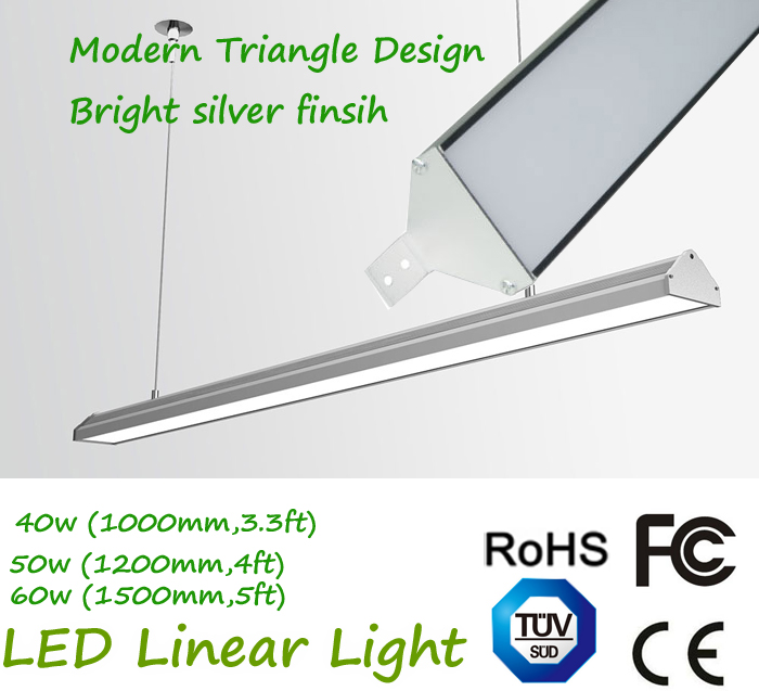 40W 50W 60W Modern LED Triangle Linear with Plug Connection 1 by 1 Light Wall Mounting,Ceiling Mounting,Pendant цена и фото