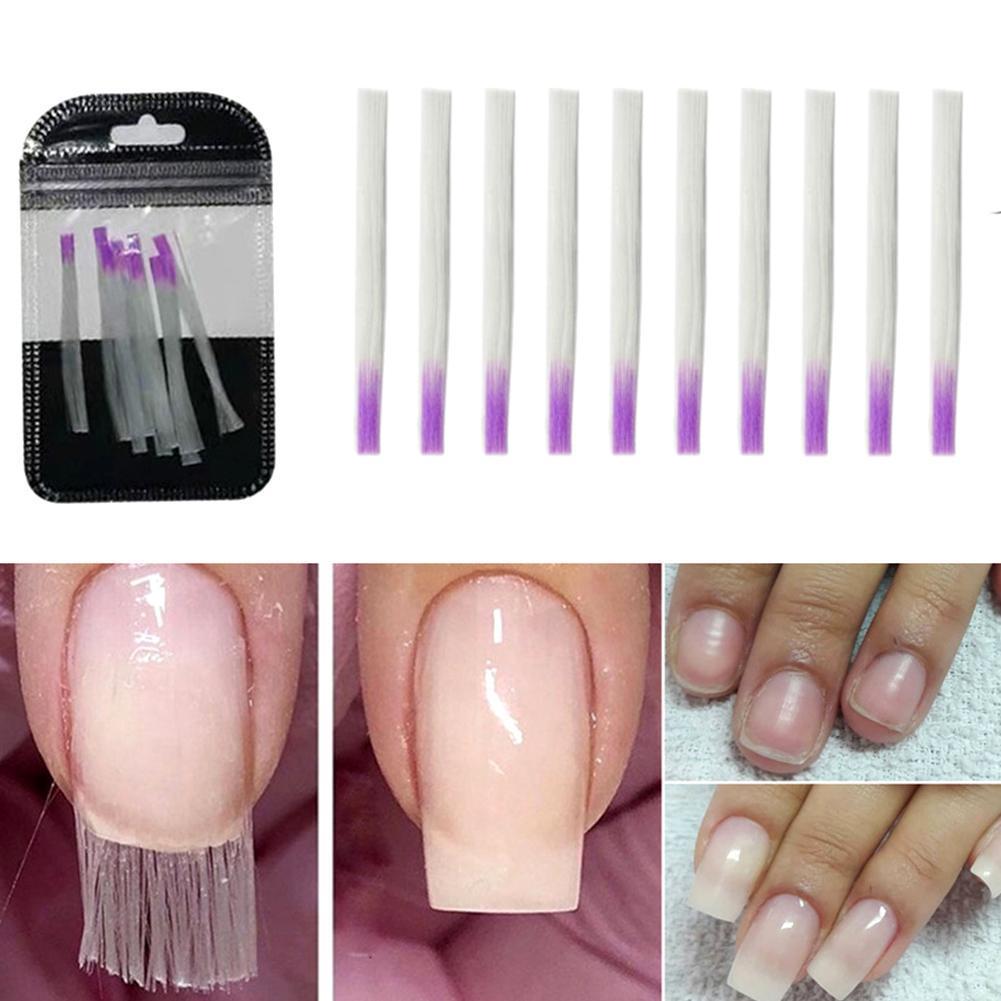 fiberglass nails extender Crystal Extend Nail Art Extension Builder transparent glass fibre quick building nail extend