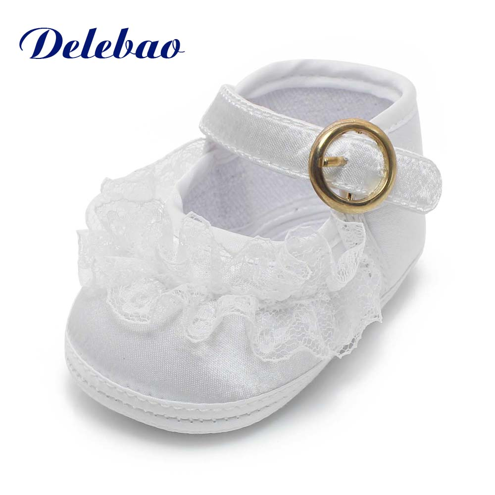 Baptism Shoes & Christening Shoes Soft Sole Non-Slip Baby Girls Shoes The Baby Safety Shoes First Walker Wholesale