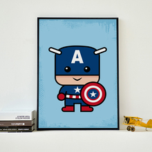 Superhero Child Canvas Art Painting