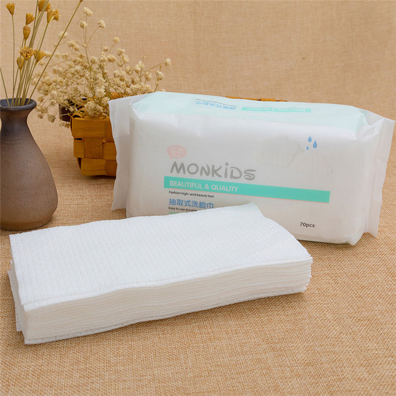 Soft Cotton Pad 70 Piece Pull-out Facial Heigh Quality Hot Sale Makeup Remover Cleansing Cream Makeup Skin Care Makeup Wipes