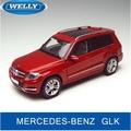 2015 nuevo Mercedes-benz GLK WELLY SUV GTA 1:18 modelos de automóviles de aleación de simulación Original GLC ROJO Colección de coches De Lujo JUGUETE