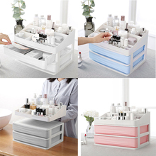 CombinablePlastic Cosmetic Drawer Makeup Organizer Makeup Storage Box Container Nail Casket Holder Desktop Sundry Storage Case цена в Москве и Питере