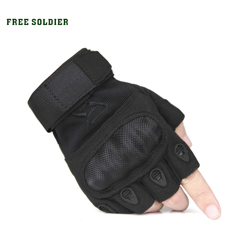 FREE SOLDIER Outdoor Sports Men's Half Finger  Full Gloves For Riding Climbing Training Tactical Gloves Cycling Gloves