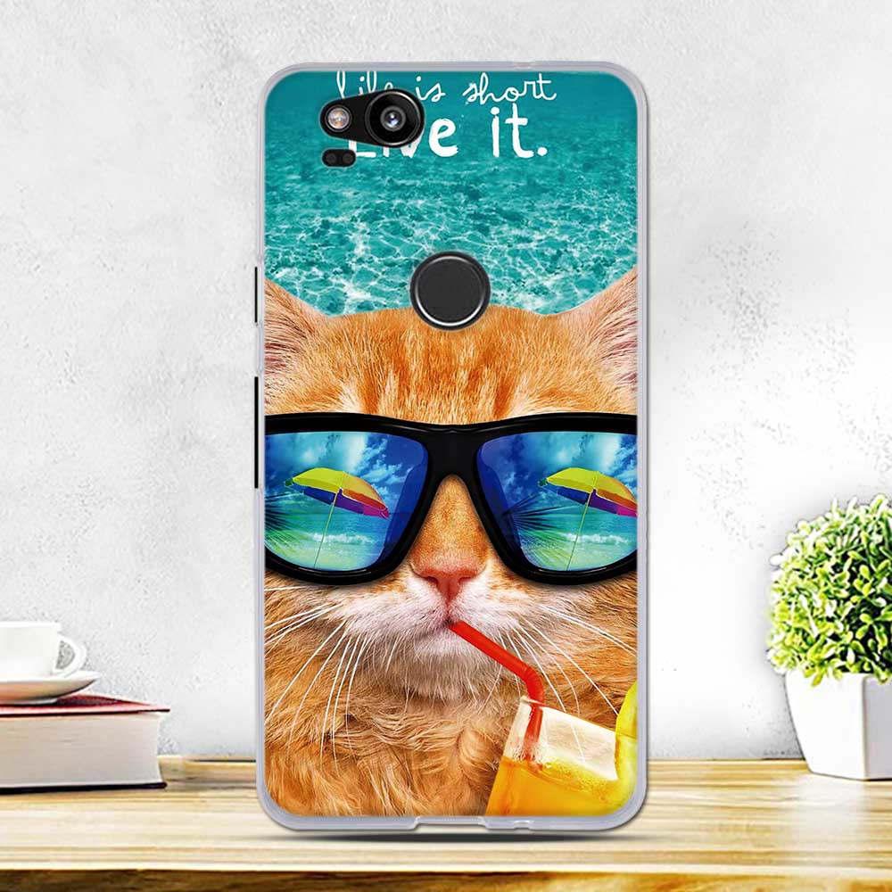 Cute Cartoon Case For Google Pixel 2 Coque Soft TPU Silicone Luxury Phone Fundas Cover for Google Pixel 2 Pixel2 Case Capas Bags