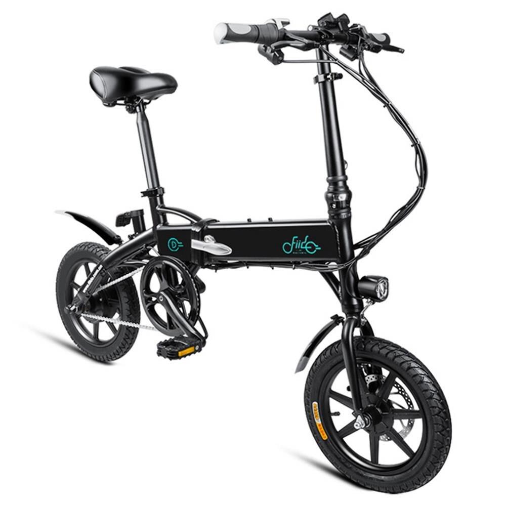 Pologne stock FIIDO D1 pliant électrique cyclomoteur vélo trois Modes de conduite 14 pouces pneus 250 W moteur 25 km/h 10.4Ah batterie e vélo
