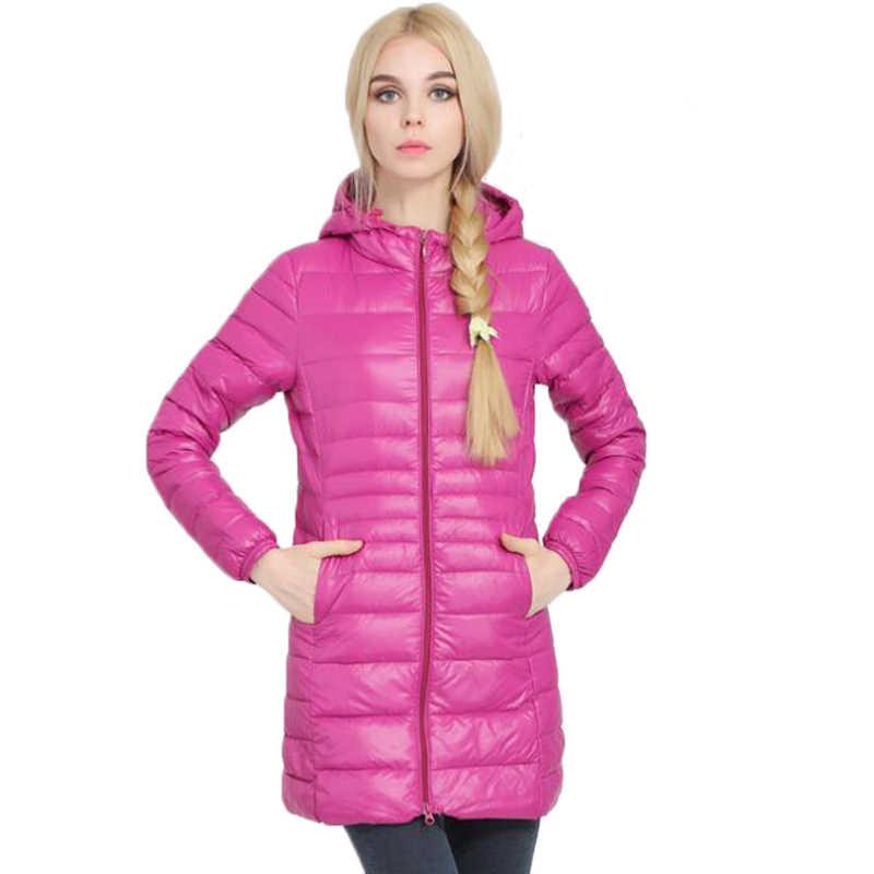 5d9f89263f6 Зимняя куртка женская верхняя одежда тонкий с капюшоном пуховик женский  теплое пальто плюс 7XL женские ультра