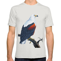 Personalised T Shirts T Shirt Wholesale Funny Men O-Neck Fish Eagle Short-Sleeve T Shirt