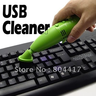 2012 Hot selling New Cheap 1Pcs Mini USB Vacuum Keyboard Cleaner Dust Collector Laptop Destop PC+Free Shipping