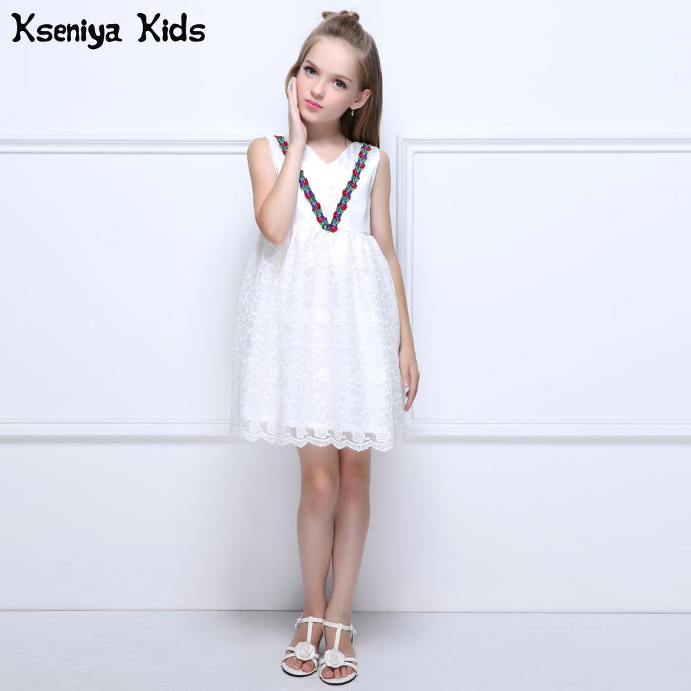 Kseniya Kids 2017 New Summer Girls White Wedding Princess Dress Baby ...