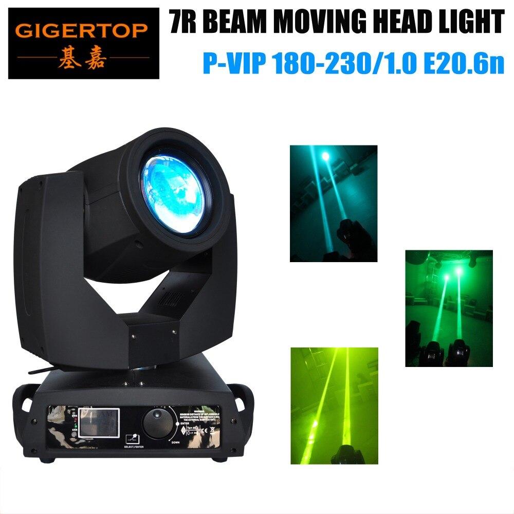 TIPTOP TP-7R Professional 7R Lumière principale mobile LCD Affichage à rouleaux Couleur bleue Prise d'alimentation 16 canaux 16 facettes Prism 100V-220V