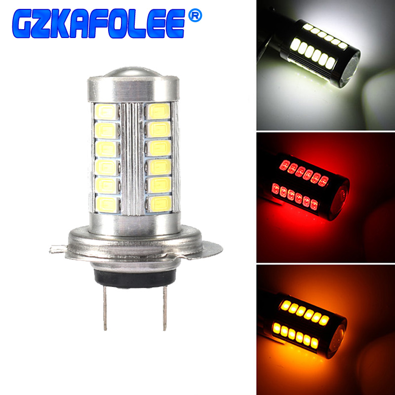 GZKAFOLEE Nebel lampe h7 LED h4 h8 h9 h11 9005 9006 hb3 hb4 33SMD 3000 K 6000 K 500LM Auto lichter Auto Scheinwerfer Lampen