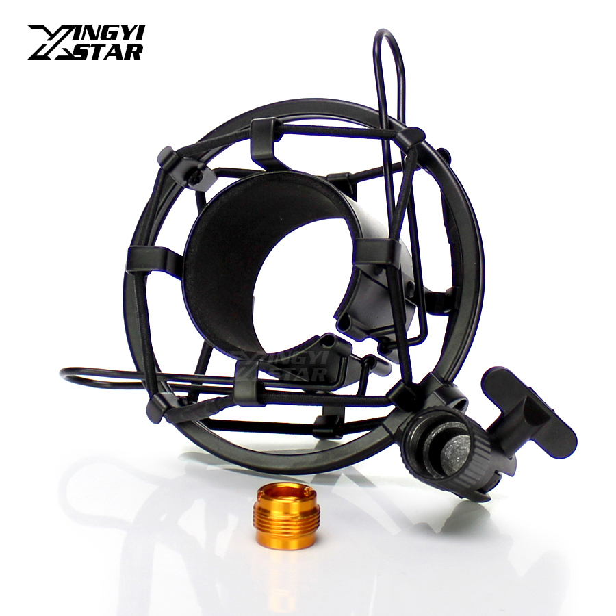 Universal Metal C01U Pro Condenser Microphone Holder Shock Mount For Broadcast Studio Mic Stand Filter Suspension