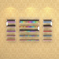 3 in 1 Wall Mounted Metal Salon Nail Polish Display Rack Essential Oils Display Storage Holds More Than 200 Bottles Bronze