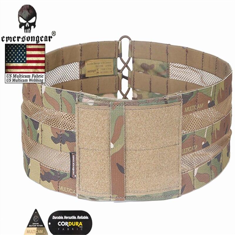Emersongear Vest Mesh Cummerbund Black Carrier For AVS JPC VEST Cummerbund waist Combat Gear MOLLE Lightweight Assault