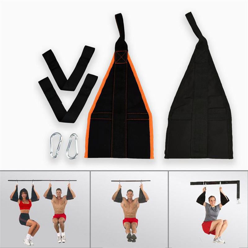 Home Fitness Hanging Cintura AB Cinghie Dell'imbracatura Addominale Carver Mento Up Sit Up Bar Pullup Heavy Duty Muscolare Formazione Sospensione cintura