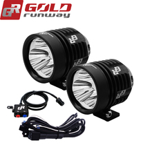 A pair GOLDRUNWAY 30IX motorcycle led head spotlight 3*U3 led chip 30W 3000lumens 3mode waterproof LED motorcycle led light