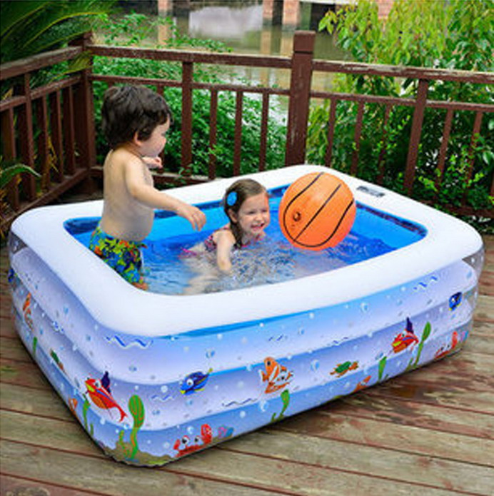 110*85*33cm Baby Swimming Pool Safety Large Plastic Swimming Pools Square Inflatable Swimming Pool Child Baby Bath Piscina YP02