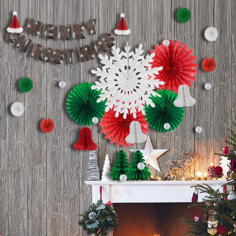 Paper Tissue Snowflake Christmas Decorations By Pearl And: 29pcs Xmas Decorations Set Merry Christmas Banner Tissue