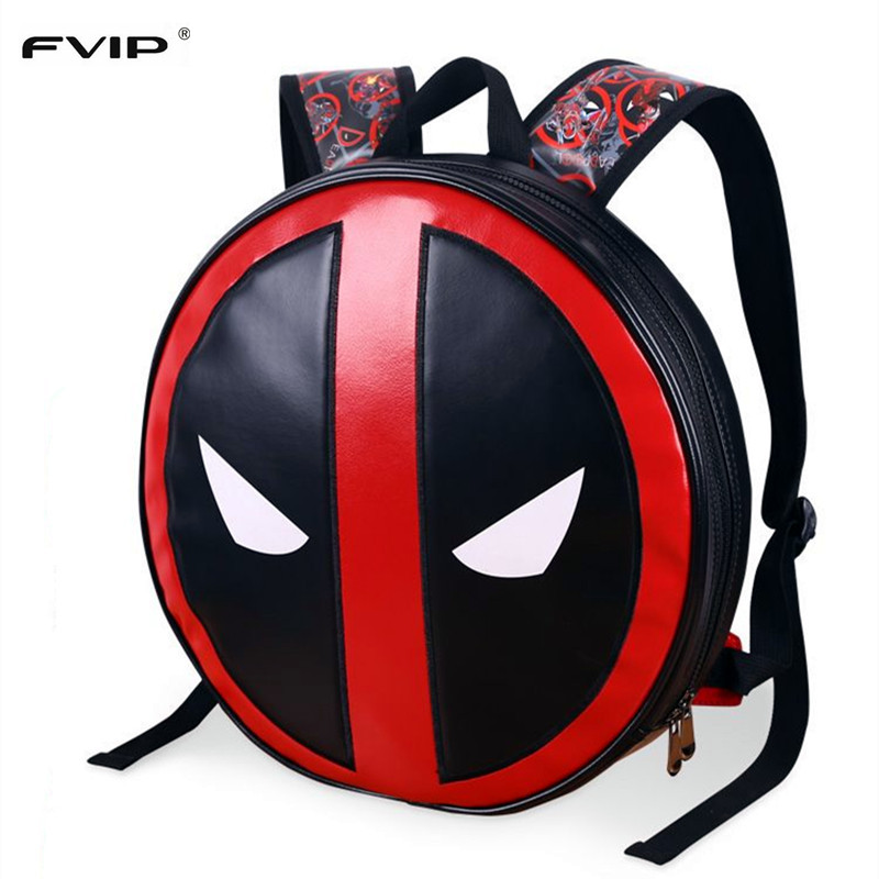 Fvip 2017 New Design 3d Marvel Mochila Masculina School Bag Deadpool Backpack Laptop Ipad Backpacks High Quality Leather Bag