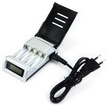 Пало C905W 4 слота ЖК-дисплей Дисплей Умный интеллектуальный Батарея Зарядное устройство для AA/AAA NiCd NiMh Перезаряжаемые батареи ЕС Plug