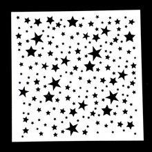 Twinkle en forma de estrella plantilla reutilizable aerógrafo pintura arte DIY decoración del hogar álbum de recortes confección de álbumes 1 ud.