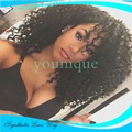 Lace Front Wig African Ladies curly hair Fluffy wig  long curly hair for Black women heat resistant fiber Synthetic wig