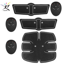 Abdominal Muscle EMS Trainer Smart Stimulator Sculpting Massager Pad Fitness Gym Arm Stickers Bod y Loss Slimming trainingning(China)