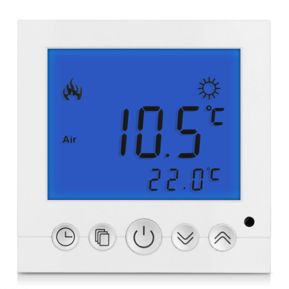 Digital Room Floor Heating Thermostat Blue LCD Display Programmable Weekly Temperature Controller 230v 16a lcd display weekly programmable room floor heating thermostat for room temperature control